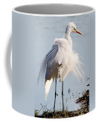 Crazy Egret Feathers Coffee Mug
