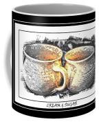 Cream And Sugar - Pottery Coffee Mug