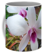 Creamy White And Hot Pink Orchid Coffee Mug
