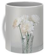 Creamy White Flowers In Tall Vase Coffee Mug by Lyn Randle