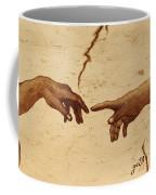 Creation Of Adam Hands A Study Coffee Painting Coffee Mug