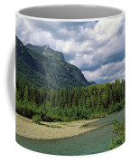 Creek Along Mountains, Mcdonald Creek Coffee Mug