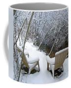 Creekside Chairs In The Snow 2 Coffee Mug