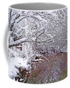 Creekside In The Snow 2 Coffee Mug