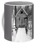 Creepy Cabin In The Woods Coffee Mug by Edward Fielding