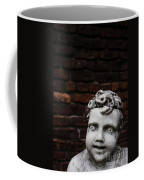 Creepy Marble Boy Garden Statue Coffee Mug