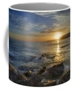 Crepuscular Rays At The Sea Coffee Mug