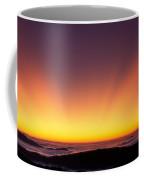 Crepuscular Rays In Nantahala National Forest Coffee Mug