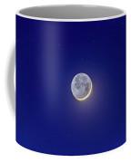 Crescent Moon With Earthshine Amid Stars Coffee Mug