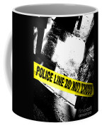 Crime Scene Coffee Mug by Olivier Le Queinec