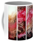 Crimson Cream Original Painting Madart Coffee Mug