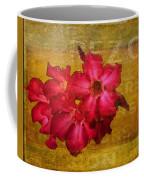 Crimson Floral Textured Coffee Mug
