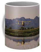 Crop Duster Applying Seed To Rice Field Coffee Mug