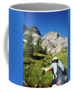 Cropped Rear View Of A Female Hiker Coffee Mug