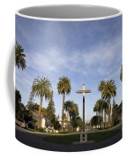 Cross And Palm Trees Mission Santa Clara Coffee Mug
