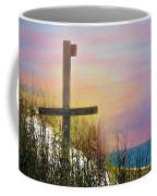 Cross At Sunset Beach Coffee Mug