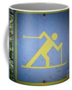 Cross Country Skiing Signboard Coffee Mug