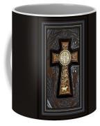 Cross In Leather Coffee Mug