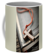 Cross On Bible Coffee Mug