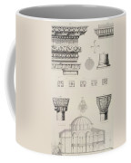 Cross Section And Architectural Details Of Kutciuk Aja Sophia The Church Of Sergius And Bacchus Coffee Mug