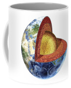 Cross Section Of Planet Earth Showing Coffee Mug