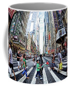 Crossing The City Street Coffee Mug