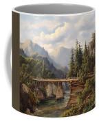 Crossing The River Bridge Coffee Mug