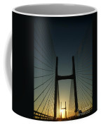 Crossing The Severn Bridge At Sunset - Cardiff - Wales Coffee Mug