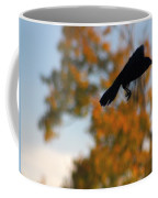 Crow In Flight 3 Coffee Mug