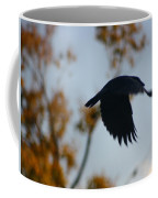 Crow In Flight 4 Coffee Mug