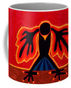 Crow Rising Original Painting Coffee Mug by Sol Luckman