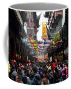 Crowds Throng Shanghai Chenghuang Miao Temple Over Lunar New Year China Coffee Mug