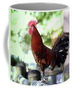 Crowing Red Junglefowl Rooster Coffee Mug