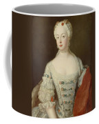 Crown Princess Elisabeth Christine Von Preussen, C.1735 Oil On Canvas Coffee Mug
