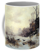Crows In A Winter Landscape Coffee Mug
