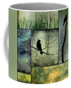 Crows In Nature Collage Coffee Mug