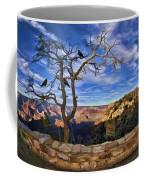 Crows Of The Grand Canyon Coffee Mug