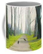 Crows On The Path Coffee Mug