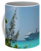 Cruise Ship At Half Moon Caye Coffee Mug