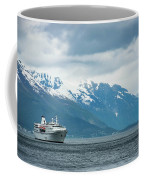 Cruise Ship In The Sognefjord In Norway Coffee Mug