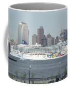 Cruise Ship On The Hudson Coffee Mug