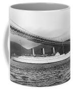 Cruise Ship Under Sf Bridge Coffee Mug