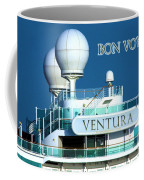 Cruise Ship Ventura's Radar Domes Coffee Mug by Terri Waters
