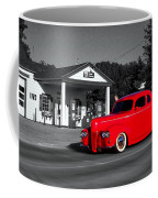 Cruising Route 66 Dwight Il Selective Coloring Digital Art Coffee Mug