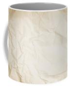 Crumpled Sepia Paper Background Coffee Mug