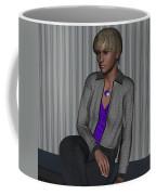 Crystal In Gray Waiting Coffee Mug