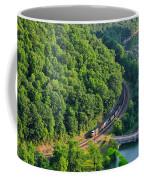 Csx Train At Hawks Nest Dam Coffee Mug