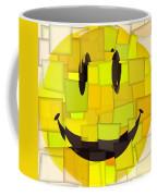 Cubism Smiley Face Coffee Mug