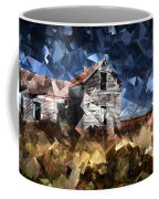 Cubist Abandoned Prairie Farm House Coffee Mug