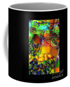 Fruit Collage Mini-print Coffee Mug